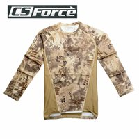 acid t shirts - Tactical Quick Drying T shirt Military Paintball Anti Acid Shirt Breathable Wargame Men Sports Long Sleeve Camouflage Shirt