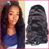 baby fonts - 8A Grade New Designed Full Lace Wigs Long Hair Available Baby Hair Lace Font Human Hair Wigs Body Wave Peerless Virgin Hair Sale