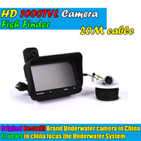 Wholesale Visible Video Fish Finder Video record recording function Underwater Ice Fishfinder Fishing Camera IR LED With DVR m cable