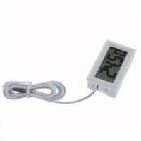 Wholesale Temperature Measurement LCD Display Thermometer Digital For Aquarium Freezer black and white color