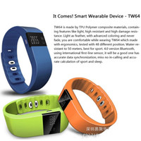 Wholesale Generic Outdoor Running Smart Sport Bracelet TW64 Wristband Fitness Tracker Bluetooth Time Display Flexible Watch for Ios Android