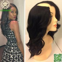 average body shape - Glueless U Part Human Hair Wigs Brazilian Wavy Upart Wig Human Hair Body Wave U Shape None Lace Wigs For Black Women