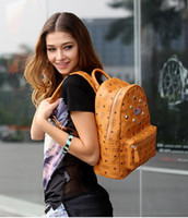 Wholesale Hot selling Pvc leather rivet bag backpack schoolbag boys girls loves bags handbags color
