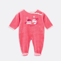 bebe factory - 2016 Fashion Baby Girls Winter Clothing Infant Long sleeved Bebe Clothes One pieces Footies Factory Price Pajamas M