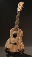 Wholesale Hot Sale Acoustic ukulele Zebrawood inch Soprano Ukulele Original Aquila String Hawaii Ukelele Guitar Musical Instruments