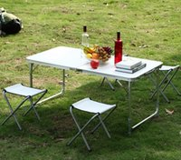 adjustable chair table - Adjustable Folding Table Chairs Portable Party Dining Outdoor Camping Picnic