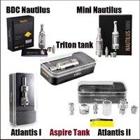 Wholesale 2016 hot Vaporizers clone atlantis subtank sub ohm tank atomizer nautilus BDC mini nautilus triton tank RTA Atomizer DHL Free