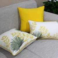 Wholesale Household Goods Pastorale Cotton Linen Sofa Cushion Cover Chinese Embroidery Pillow Without Inner Core