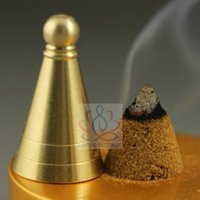 Wholesale 3 cm Copper Incense Cone Tower Mould Tool for Incense Powder Supper Easy DIY Incense Way