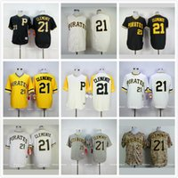Wholesale Pittsburgh Pirates Throwback Jerseys Pittsburgh Pirates Roberto Clemente Baseball Jersey White Black Yellow Gray Cream