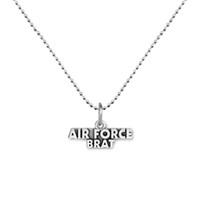 air force mom - 100pcs Air Force Mom Message Charm Antique Silver Plated Pendant Link Chain Necklace Jewelry A121602