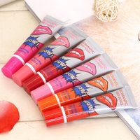 Wholesale 2015 Lip Gloss Peel off Lasts For h No Stain Marine Collagen Lipstick Balm Plant Romantic Bear Colors Makeup Moisturizing freeshipping