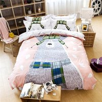 beds hong kong - Bed Cover Limited Full Null Home All Duvet Cover Hot Sale Hong for Kong Mew Super Cute Cartoon Print Pieces Kids Bedding Sets