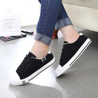 ball boy shoes - Summer low air permeability of pure black and white for canvas shoes flat students ball boys and girls leisure shoes sneakers