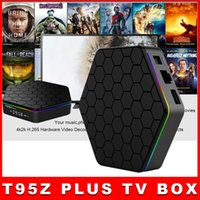 Wholesale Original T95Z PLUS Android TV BOX S912 Octa core cortex A53 G G Android G G Dual band WiFi Bluetooth KODI mart Media Player DHL