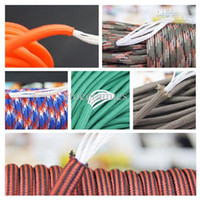 Wholesale Paracord Parachute Rope Core Strand FT For Climbing Camping Buckles Bracelet Colors For Pick S0021 A B1 CP lots120