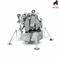 Wholesale Aviation D Metal Model Puzzles APOLLO LUNAR MODULE Chinese Metal Earth Stainless Steel Creative Gifts ICONX