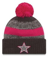 awareness football - New Beanies Breast Cancer Awareness Sideline Cuffed Pom Knit Hat Gray Pink Color Heather Gray Mix Match Order All Caps High Quality Hat