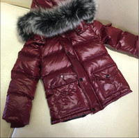 baby boy coats and jackets - ME12 middle long Boys and girls real raccoon fur collar jacket children outwear winter jacket baby snow kids coat anorak with hood