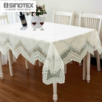 banquet tablecloth sizes - 1pcs Tablecloth Lace Table Cloth Knitted Vintage Dining Table Cover Knitting Hollow Out Sizes Banquet Kitchen Wedding