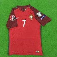 Wholesale New Camisetas de Futbol Portogallo RONALDO FIGO NANI Football Shirt Maillot de Foot Cristiano Ronaldo Soccer Jersey