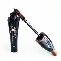 best volume black mascara - New Brand The Volume Waterproof Blue Purple Black Green Brown Best Mascara Charming Longlasting Makeup