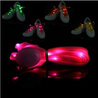 Cheap LED Flash Shoe Lace Light Up Glow Strap lumineux Shoelace Multicolors Nylon Shoe Strings Party Skating Charming lacet OOA260