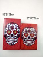 Wholesale New Cigar cigarette Case Creative Red green bule candy skull Plastic shell Portable Cigarette Box holder