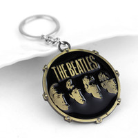 Wholesale Hot Rock Band The Beatles Keychains Key Chain Metal Pendants Key Ring fashion jewelry