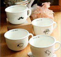 Wholesale cute Ceramic cup no cover ml kinds rain bird sheep beard bone china table glass tea milk coffee mug F