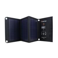 16W Солнечное зарядное устройство с Sunpower Портативный и Складные панели солнечных батарей, солнечные зарядные устройства с 2-портовый USB высокоэффективными панели солнечных батарей