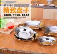 Wholesale Kitchen Dining Bar Dinnerware Dishes Plates Non magnetic stainless steel disk