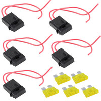 Wholesale 5 Packs A Fuse Holder Gauge ATC In line AWG Wire Copper Power Blade V B00121 FASH