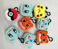 Wholesale Poke plush toys Pikachu cm ball key chain to hang Pikachu elf elf keyring stuffed animals and plush toys