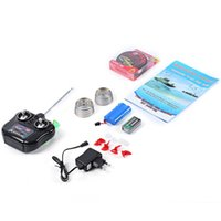 adventure boat - 3 Colors Utility Mini US EU Plug RC Fishing Adventure Lure Bait Boat RC fishing boat for Finding Fish with Waterproof bag