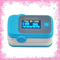 Wholesale PO10004A51 with Pulse Sound Audio Alarm OLED Fingertip oxymeter spo2 PR monitor Blood Oxygen Pulse Oximeter Freeshipping blue