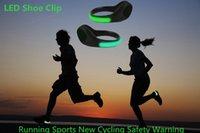 Wholesale LED Luminous Shoe Night Clip Light Running Sports New Cycling Safety Warning LED Bright Flash Light For Running Cycling Bike Christmas Light