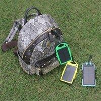 Wholesale 5000 mAh Solar Charger Outdoor Dual USB Emergency External Battery Portable Solar Power Bank Universal Waterproof Flashlight