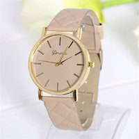 alloy news - 2016 news fashion women watch Leather watch strap give away girlfriend gift watch beautiful fashion gold pointer