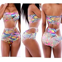 bathing oil paintings - Hot New Pattern triangle bikini Oil Painting Printing Fashion European American Style The Club Sexy Suit Summer bathing swimsuit triangl