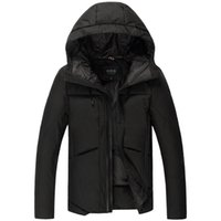 Wholesale New winter thicken white duck down jacket men casual solid color parka with hooded men s clothing colors MF19