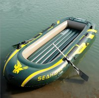 Wholesale 4 person inflatable flishing boat included paddles and infltable pump inflatable floating sport boat