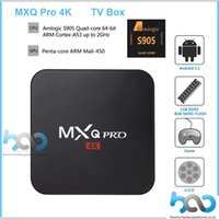 Wholesale MXQ Pro K TV Box Amlogic S905 Quad Core Android K Streaming Kodi Android Box MXQ pro with WiFi HDMI DLNA