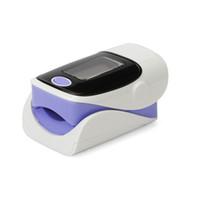 LED de alarma del dedo oxímetro de pulso SpO2 sangre Monitor de 4 direcciones 6 modos 5 colores disponibles azul gris verde rosa púrpura Inglés Español