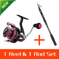 Wholesale KastKing m Fishing Reel Set Rod Throw Pole Sharky Spinning Reel Carbon Rod Combo vara de pesca para carretilha
