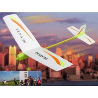 Wholesale electronic toys and children s product DIY electric Paper Airplane Easy Assembly Electricity model aircraft outdoor sport fun