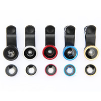 Wholesale 3 in Clip Cell Phone Fish Eye Lens Colors Available degrees Fish Eye Lens for iPhone