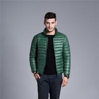 Wholesale Fall Men s Winter Jacket Duck Down Jacket Men Ultra Light Thin Plus Size Outwear Parkas Casual Windproof Autumn Coat HJ319