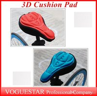 Wholesale 3D bike Pad Bicycle Soft Cushion Bike cushion Seat Saddle Cover Aviation cotton Thicker D Cushion Cover OUT033