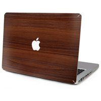 Wholesale 10 Patterns Laptop Vinyl Decal Wooden Grain Top Sticker Marble Texture Print Cover Skin for Macbook Air Pro Retina